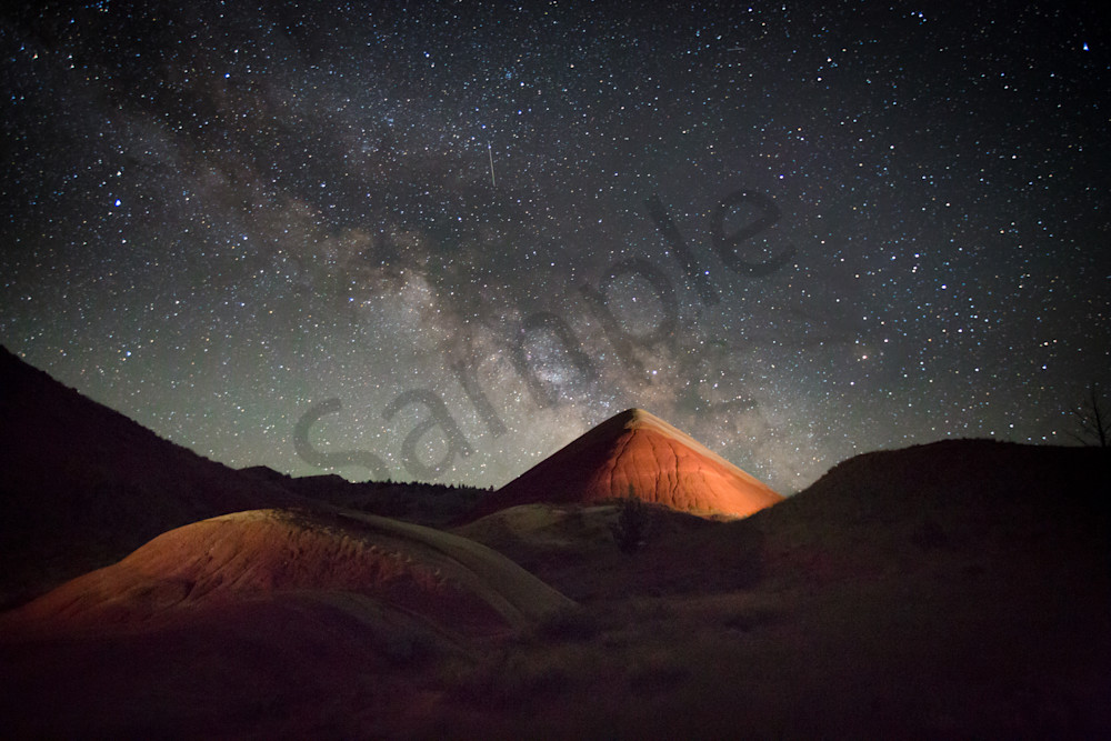 Milky Way Over Painted Hills Photography Art | Barb Gonzalez Photography