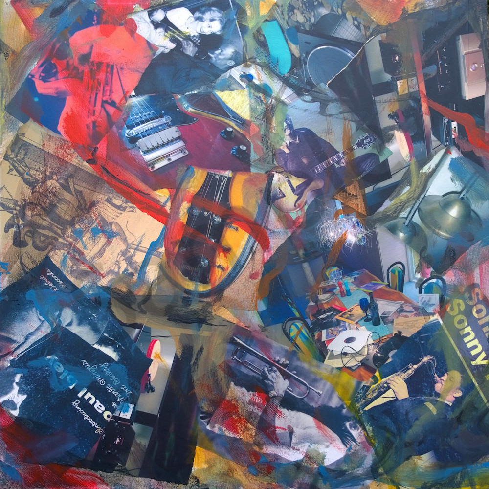 Buy All that Jazz Too - High Quality Print of Mixed Media original Dreamscape