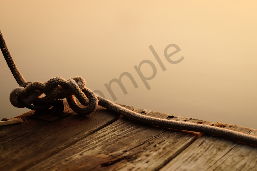 Sailor Knot On A Dock Photography Art | Sage & Balm Photography
