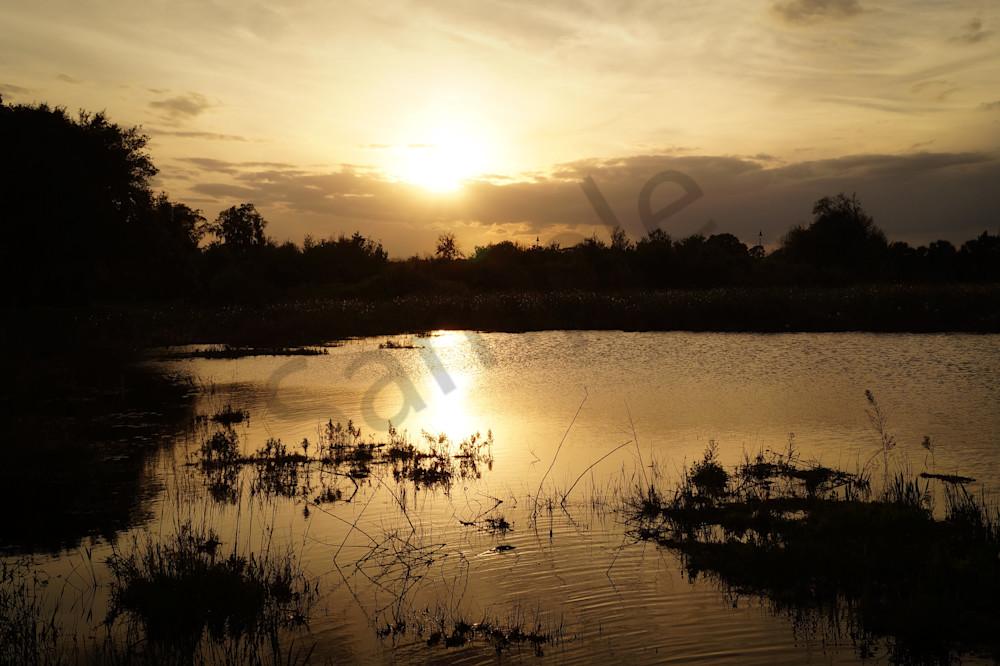 Sunset Over The Lake Photography Art | Sage & Balm Photography
