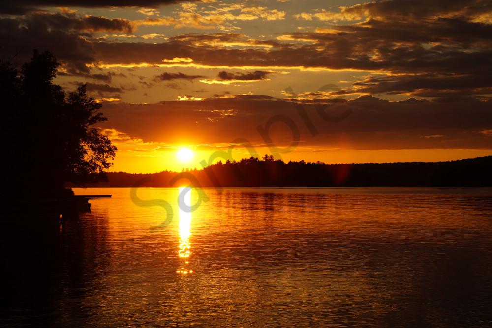 Cottage Sunset Photography Art   Sage & Balm Photography
