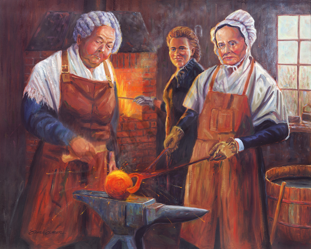 Painting of Suffragists Elizabeth Cady Stanton, Matilda Joslyn Gage, and Lucretia Mott by Steve Simon