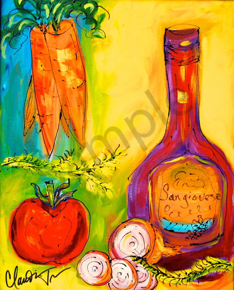 Italian still life - framed