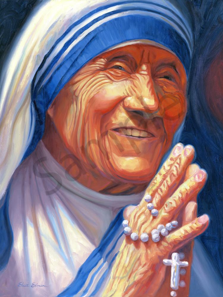 Mother Teresa Portrait Painting