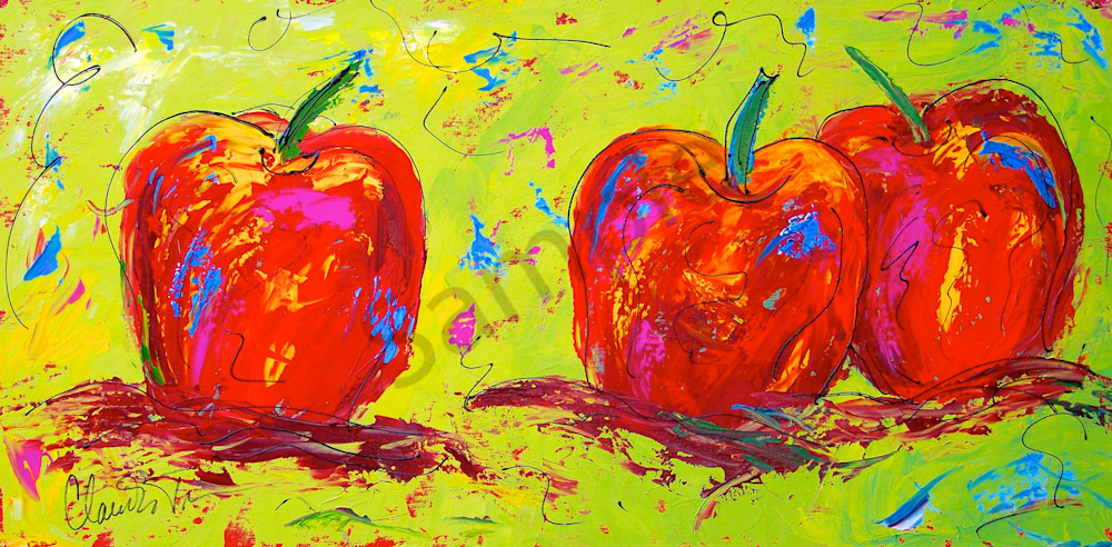 Crazy Red Apple painting
