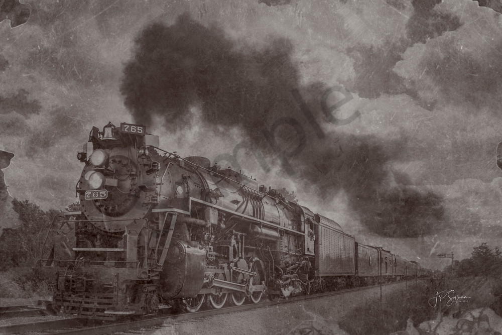 Joliet's old 1940's Steam Engine The Rocket - fine art wall prints - photography