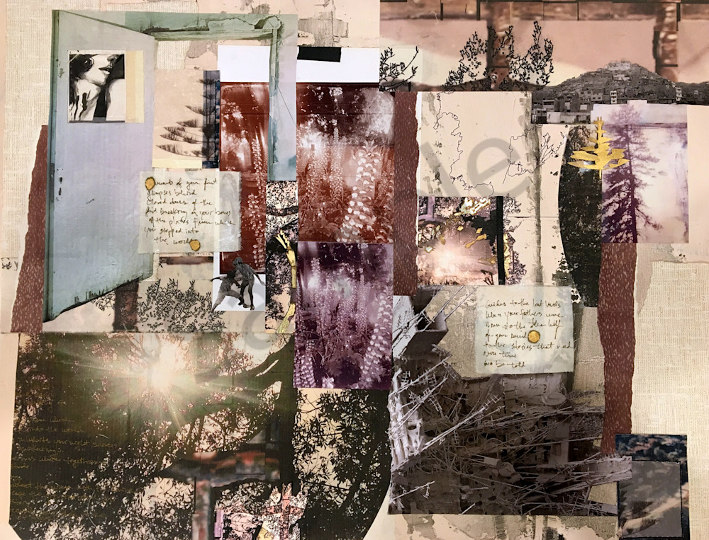 The places from which you stepped into the world mixed-media fine art collage