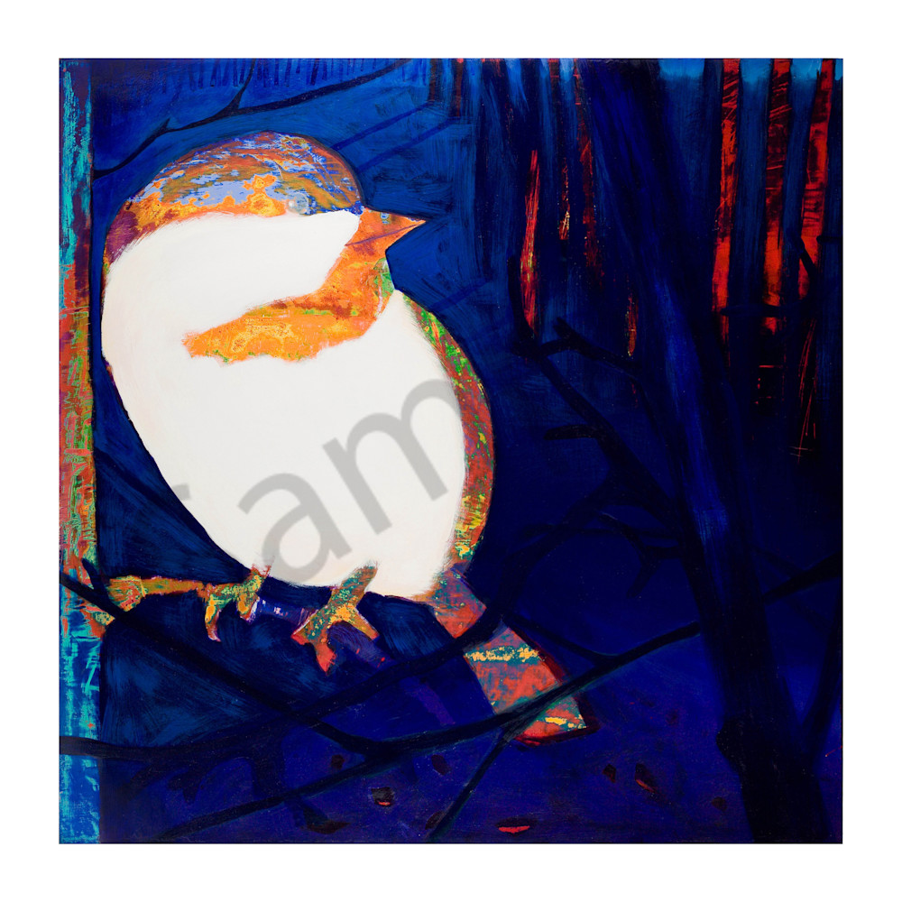 Saucy Chickadee | Deluxe Canvas Print | Emma Barr Fine Art