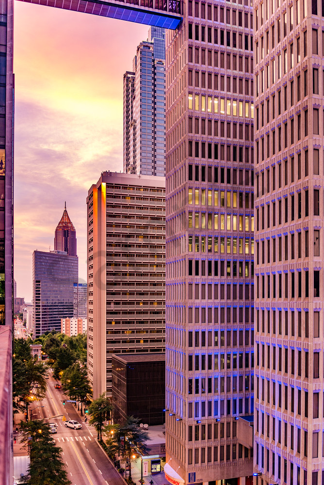 Sunset in the City [Atlanta] | Susan J Photography | Shop Prints