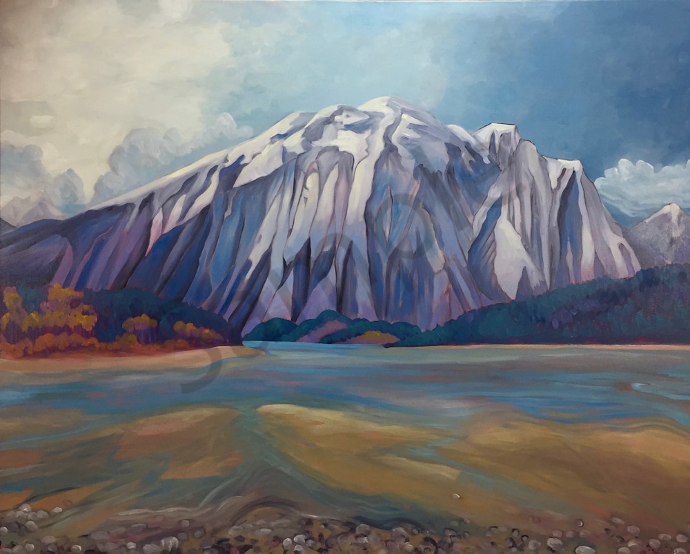 Base Mountain | Deluxe Canvas Print | Emma Barr Fine Art