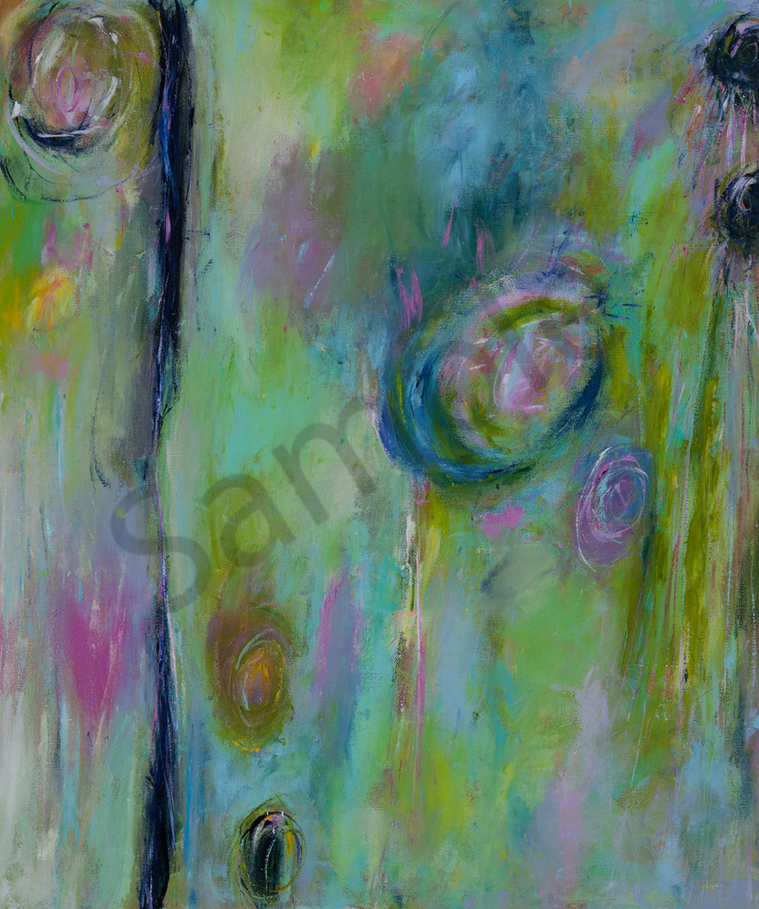 Spring Flowers and Showers 20 x 24 Original Art