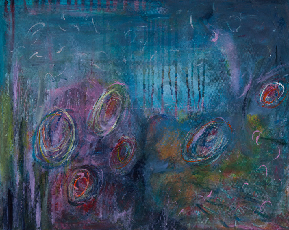 Places to Go Original Abstract Intuitive Expressionist Acrylic Art Painting With Original Canvas Art, Metal and Acrylic Mounts, Fine Art Paper Prints  for sale by artist Stacey Kalavritinos 2017.