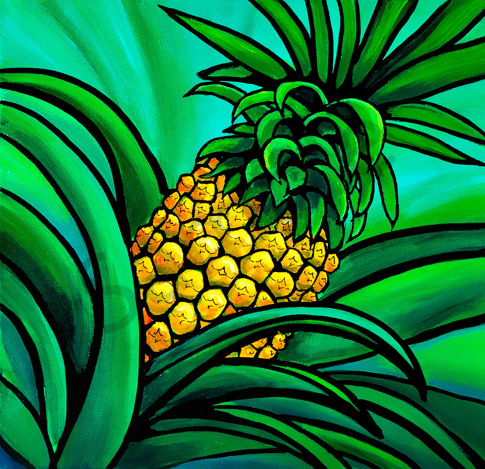 Pineapple Glow Art | Swim Whimsey