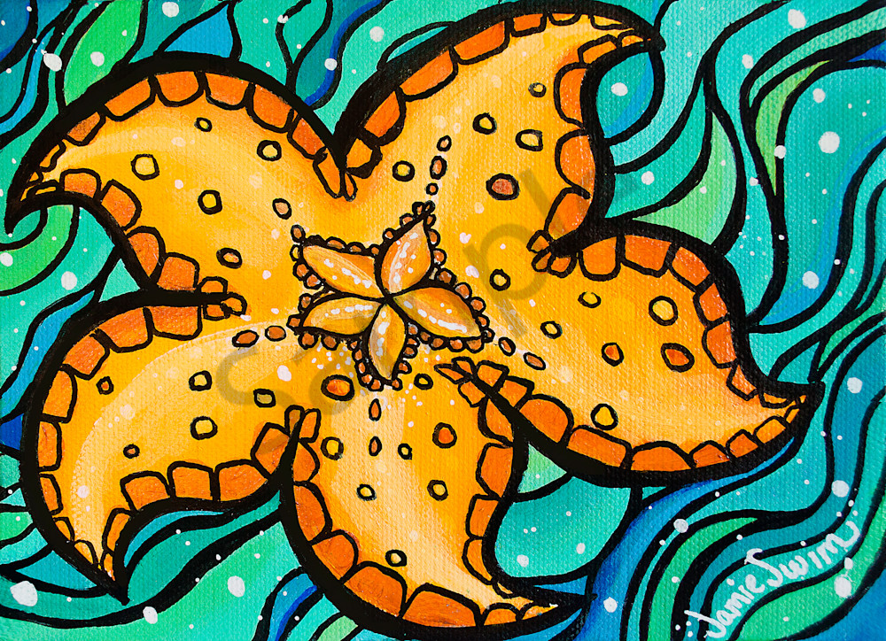 Happy Starfish Art | Swim Whimsey