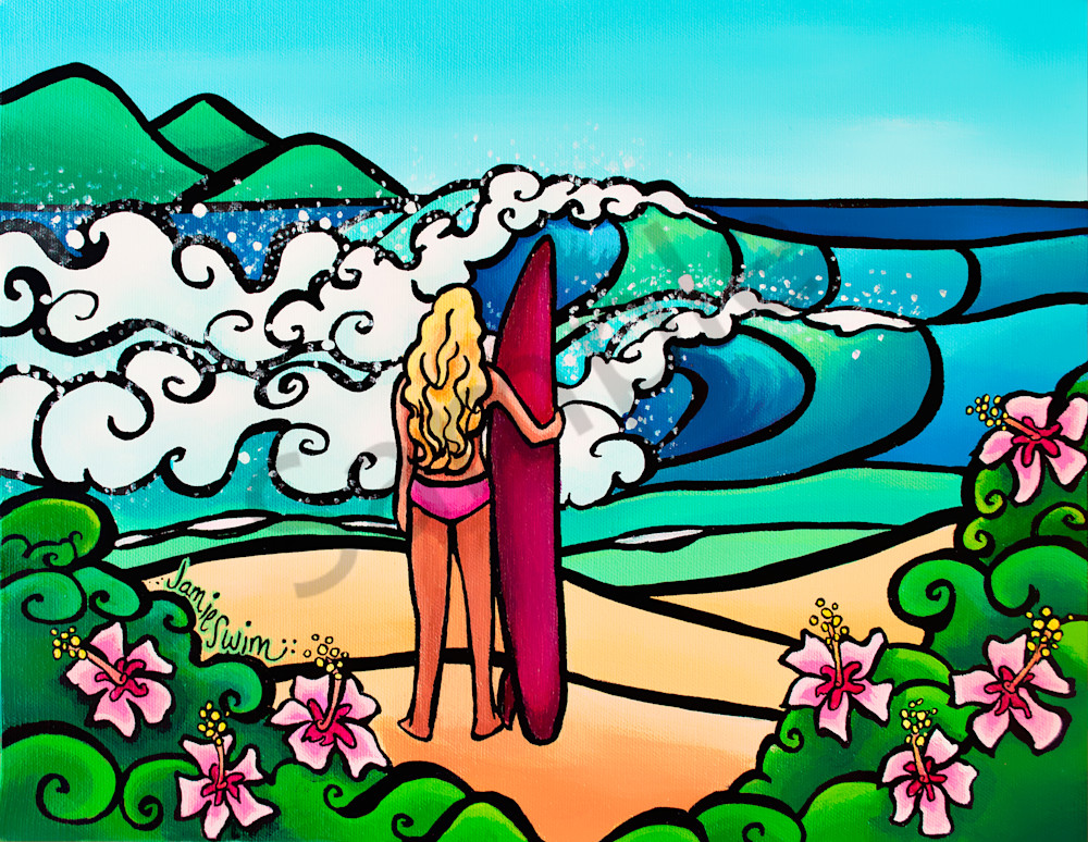 Surf Perspective Art | Swim Whimsey