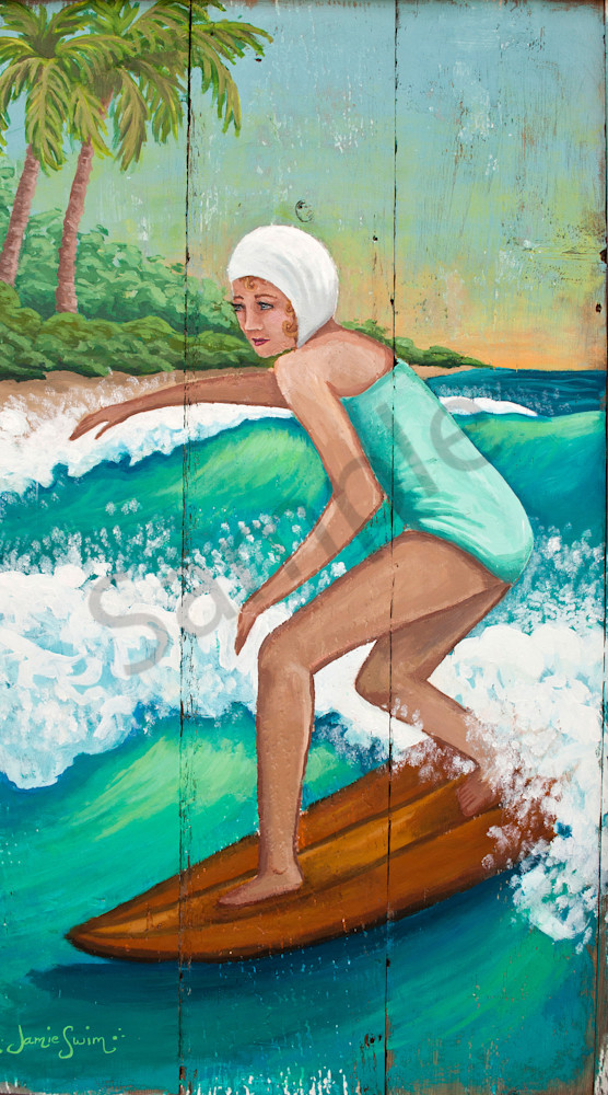 Vintage Surfer Girl