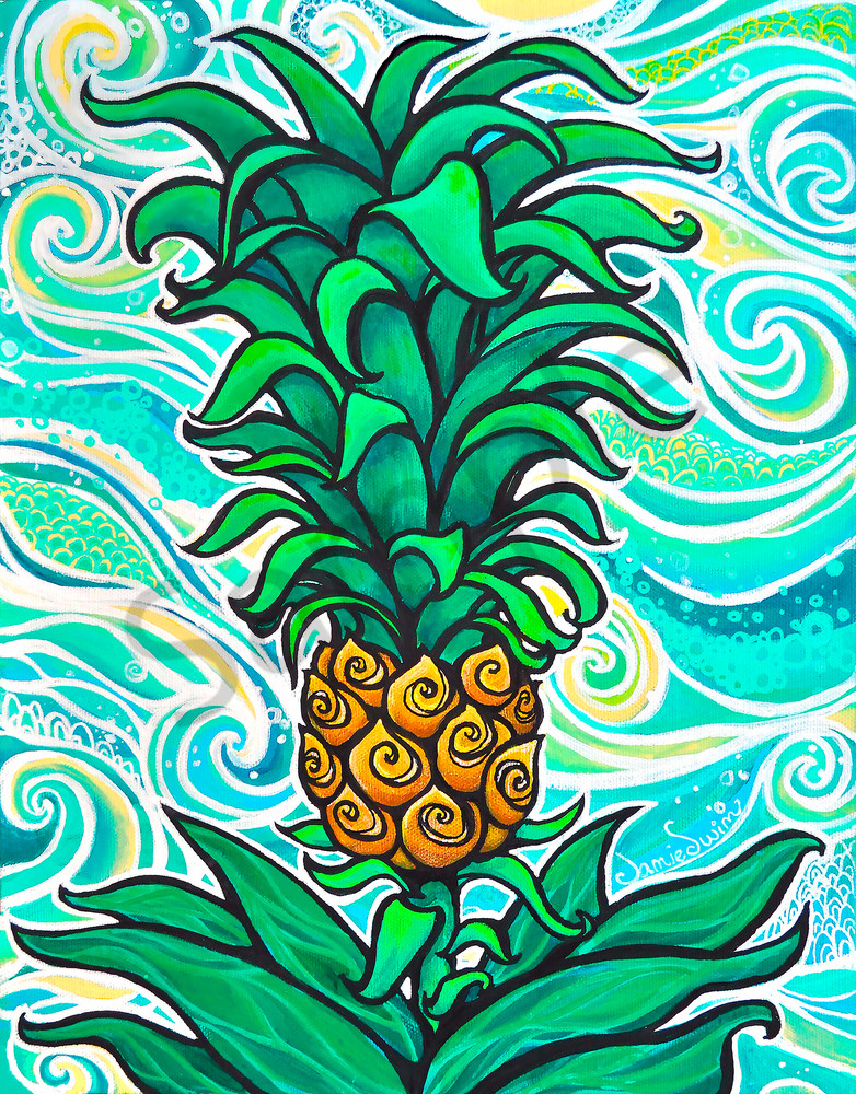 Li'i Pineapple Art | Swim Whimsey