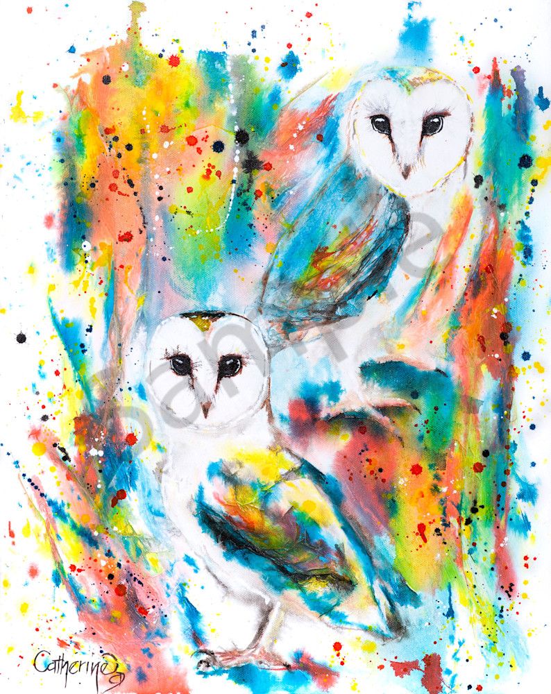 Ink Series -Owls I