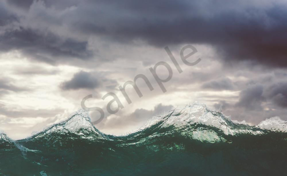 Ocean mountains.