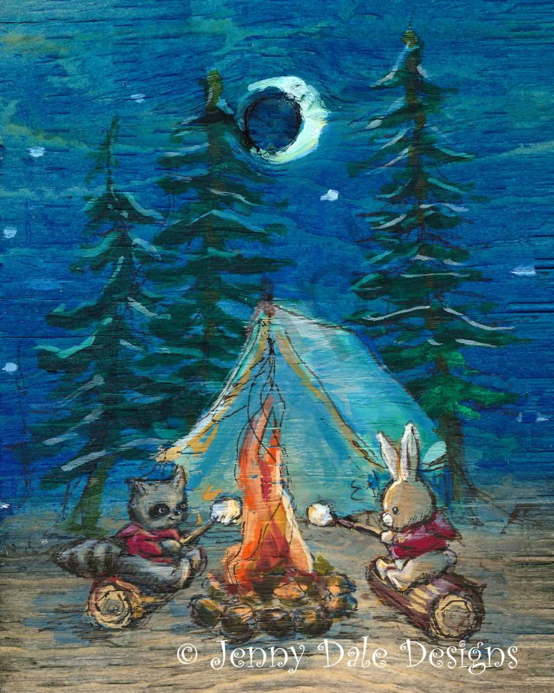 Canadian Campfire Scene