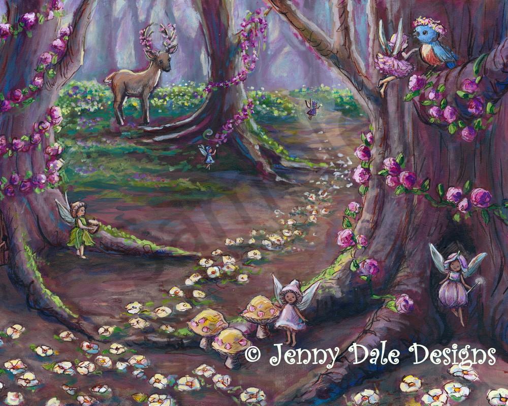 Fairy Forest Scene  Art | Jenny Dale Designs