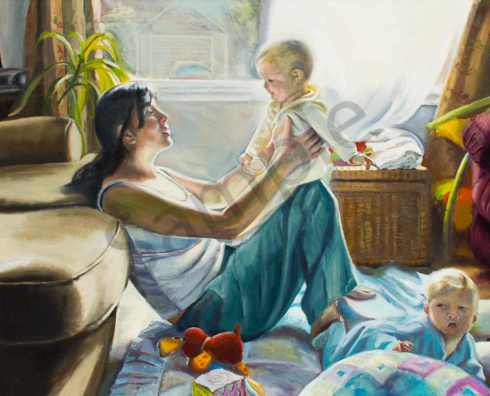 Madonna and Twins Fine Art Print