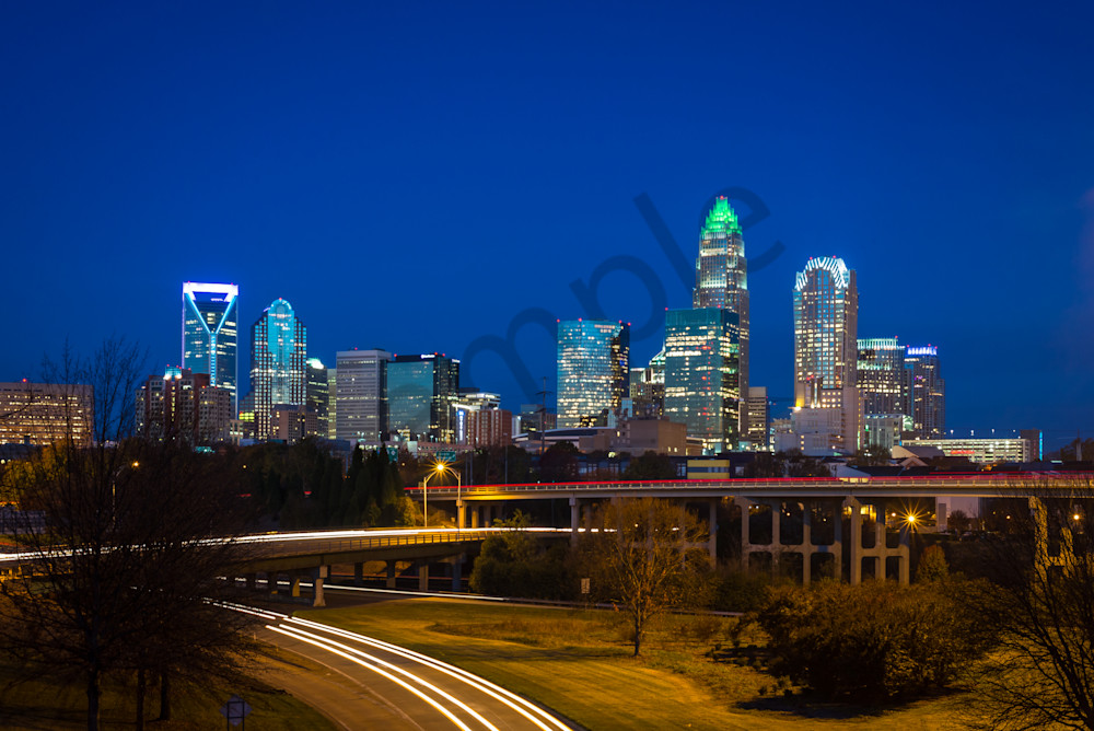 Beautiful Charlotte Skyline Photograph for Sale as Fine Art