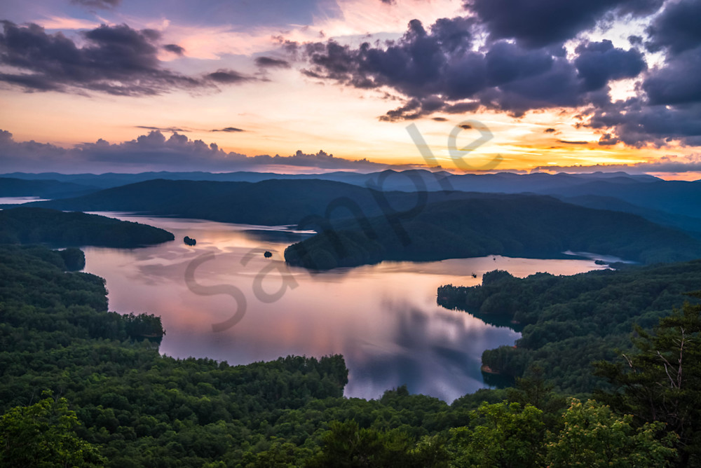 Sunset at Lake Jocassee Photograph for Sale as Fine Art