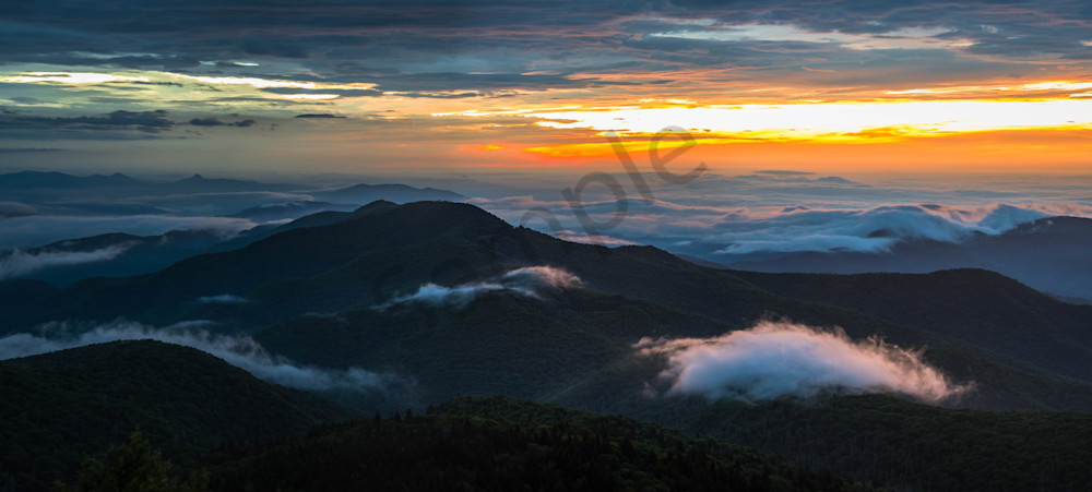 Panoramic Blue Ridge Sunrise Photograph for Sale as Fine Art