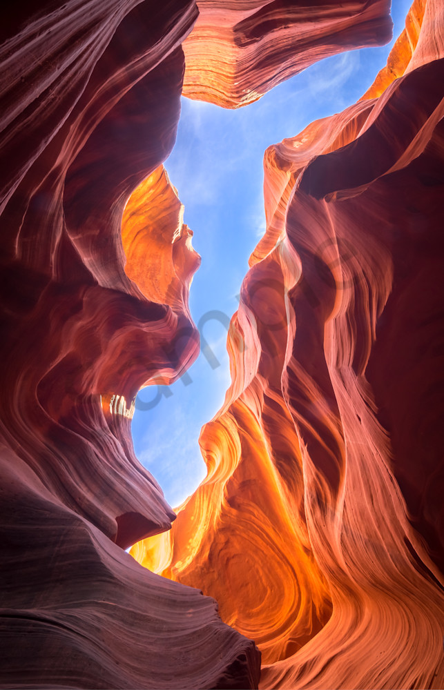 Antelope Slot Canyon Window Photograph for Sale as Fine Art