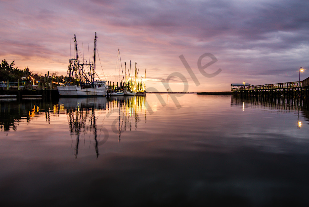 Shem Creek Sunset Photograph for Sale as Fine Art