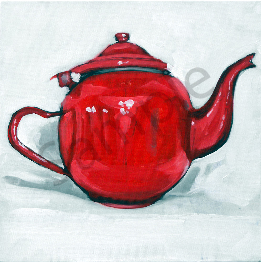 """Red Tin Pot"" by Serbian Artist Andrei Cicală   Prophetics Gallery"