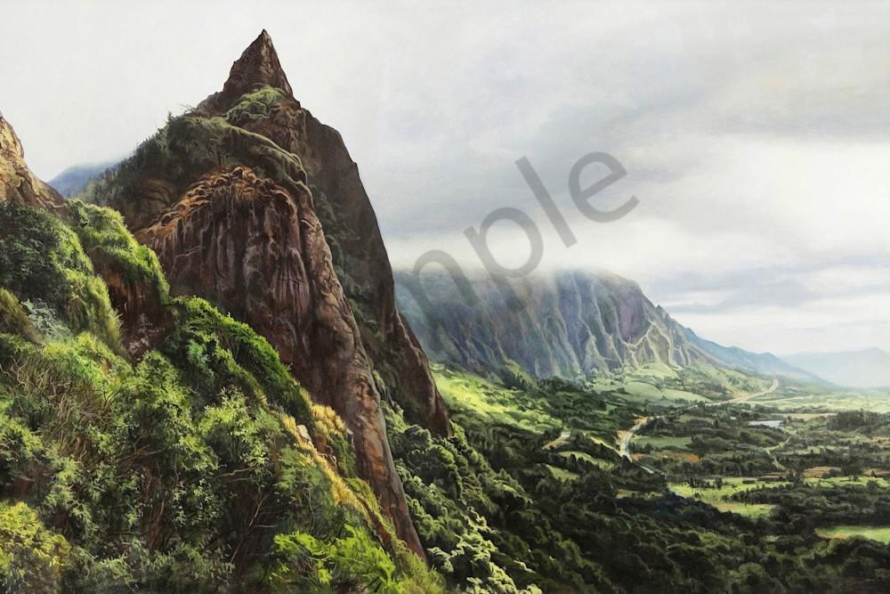 Pali Overlook Hawaii print | Kevin Grass Fine Art