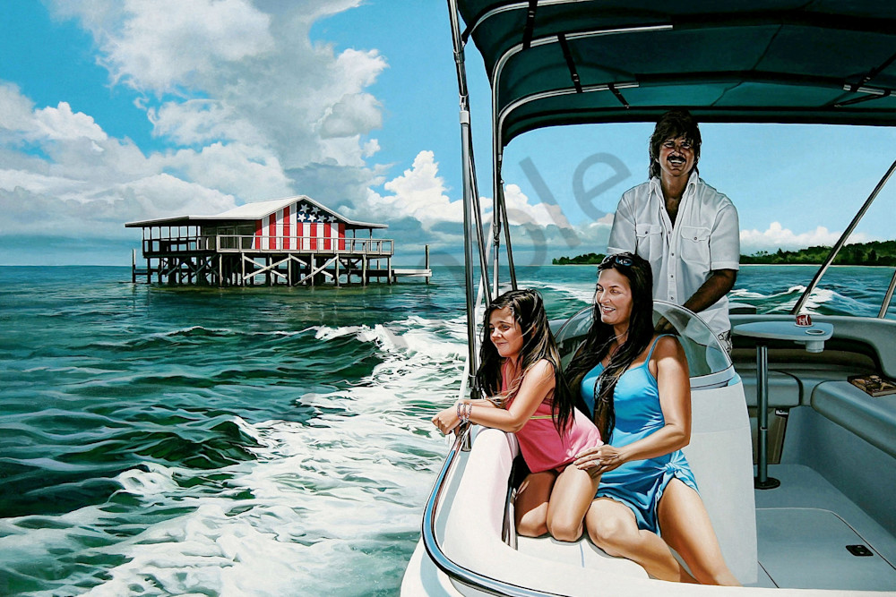 Boating portrait print | Kevin Grass Fine Art