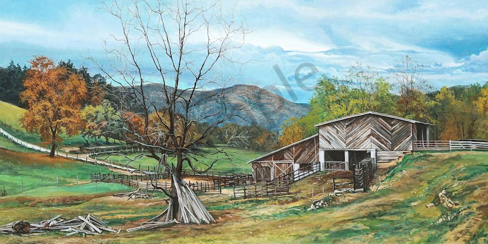 Appalachian Farm art print | Kevin Grass Fine Art