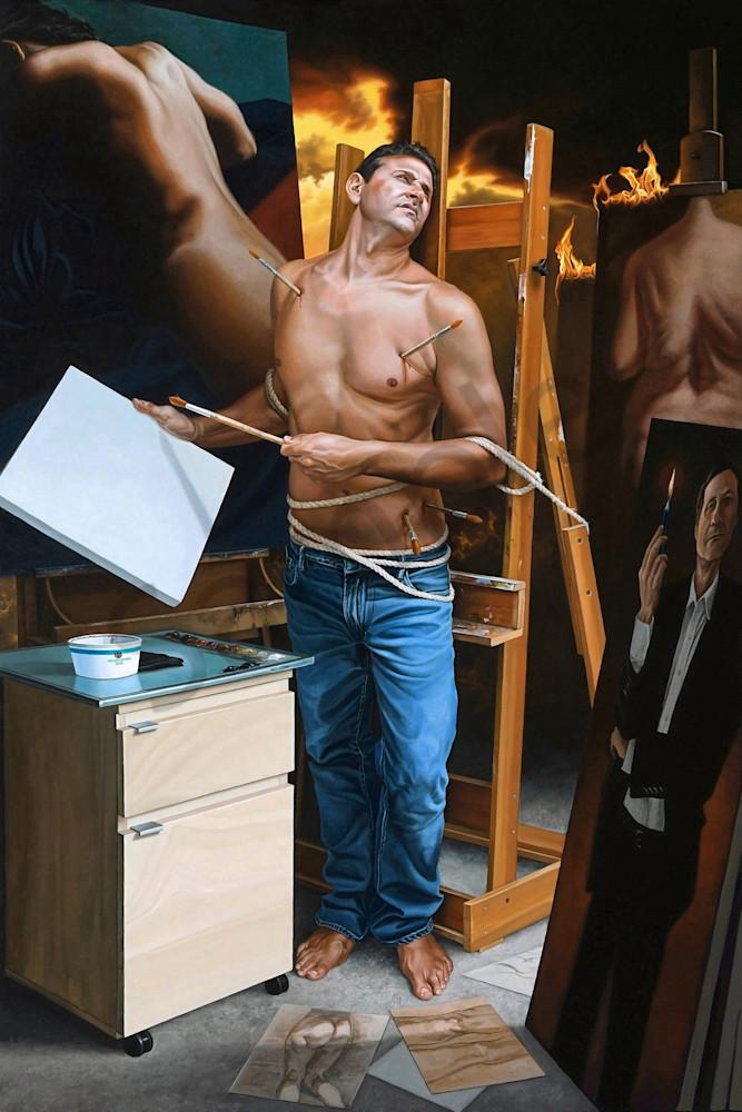Artist as martyr print | Kevin Grass Fine Art