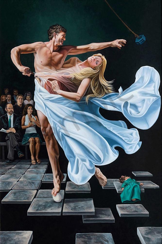 Two to Tango divorce art print | Kevin Grass Fine Art