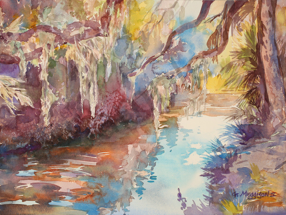 Matanzas River | Watercolor Landscapes | Gordon Meggison IV