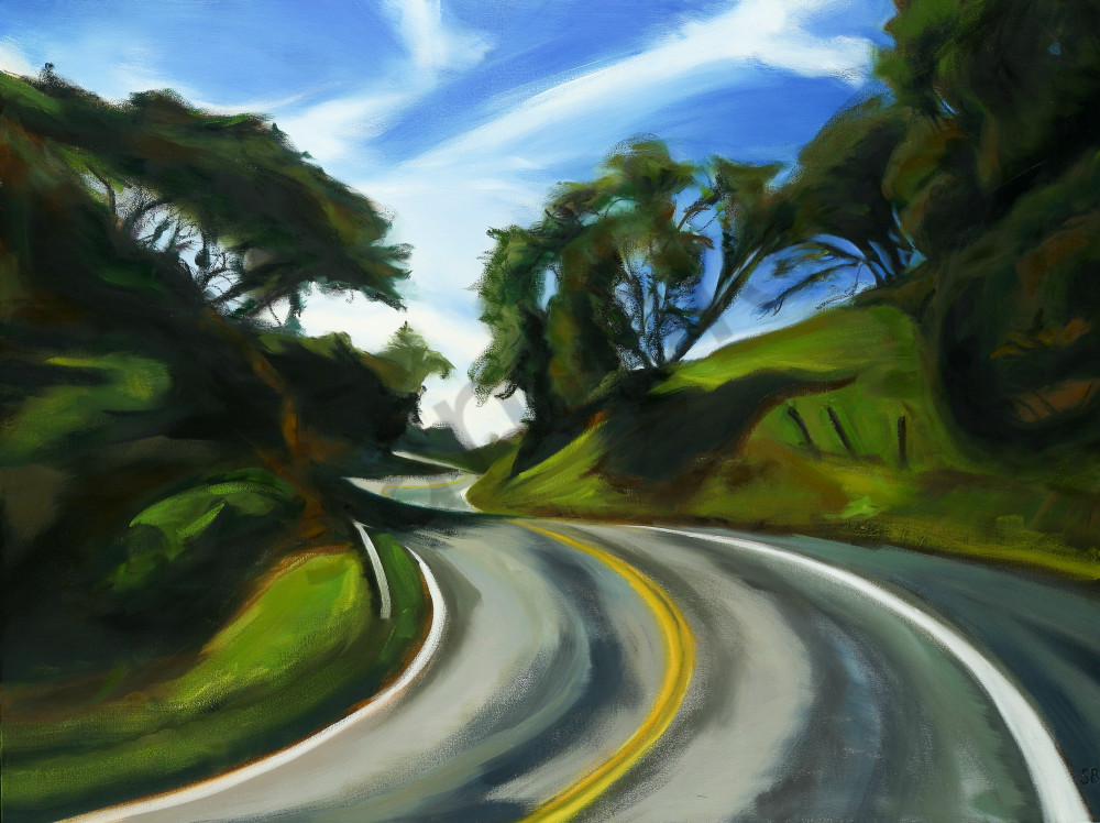 The Road, Route 128, Fine Art Print