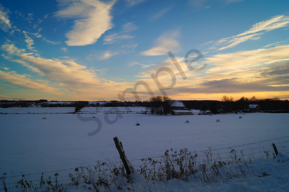 Wintry Field Photography Art | Sage & Balm Photography