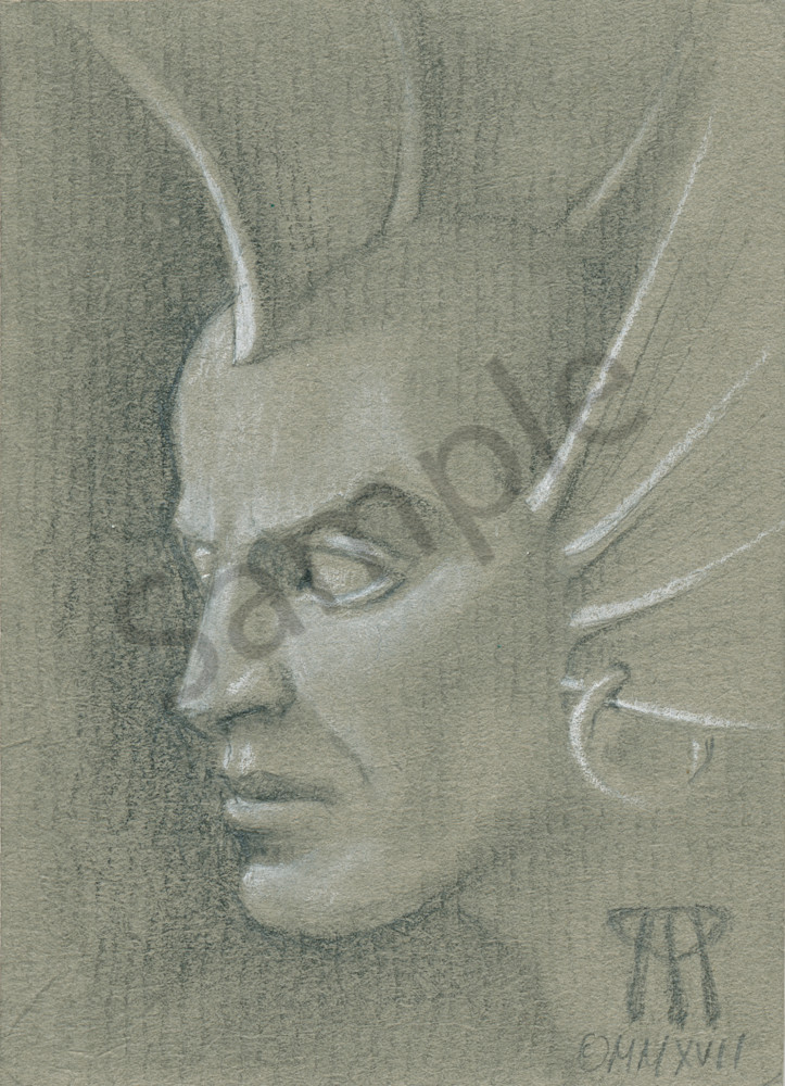 Small portrait of the iconic MtG Lord of Atlantis card by Melissa A Benson