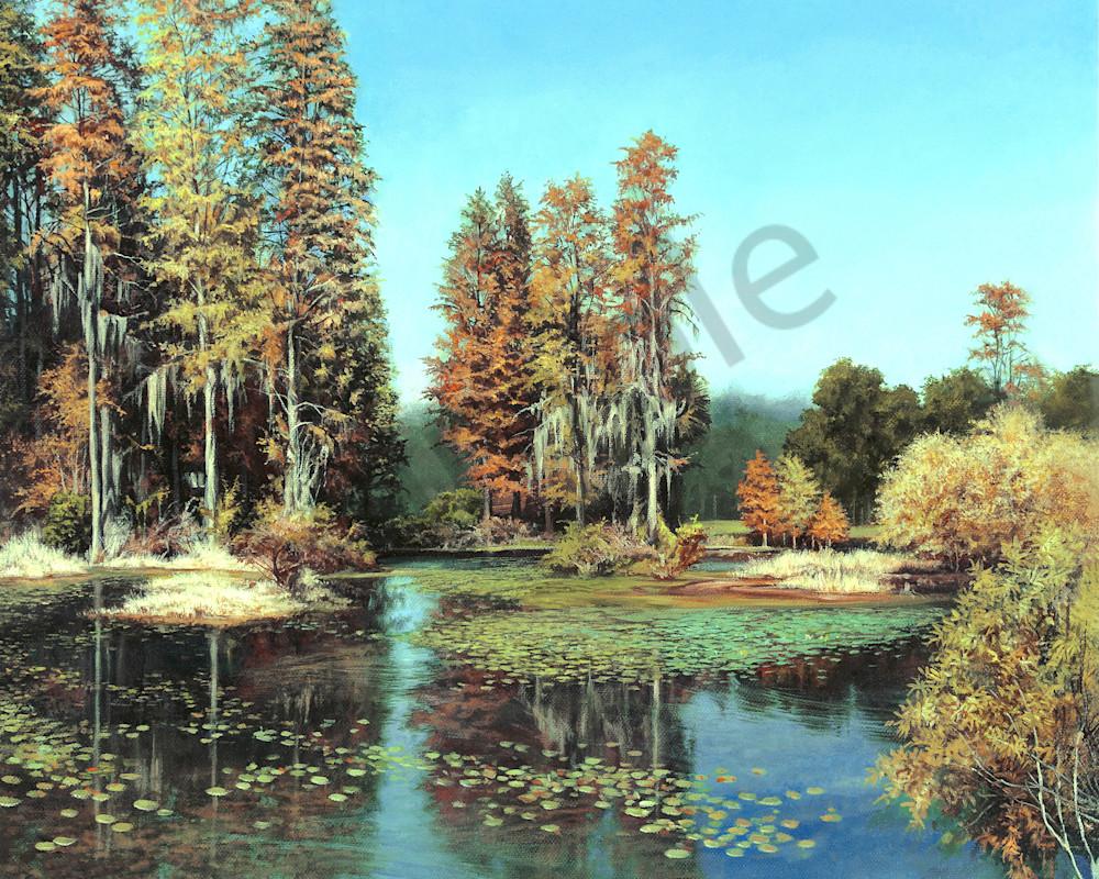 Autumn Pond art print | Kevin Grass Fine Art