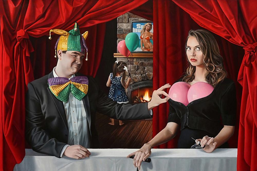 Clown fine art print   Kevin Grass Fine Art