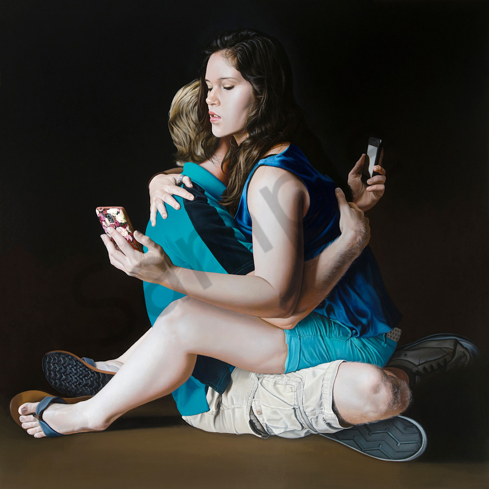 Intimacy with cell phones print | Kevin Grass Fine Art