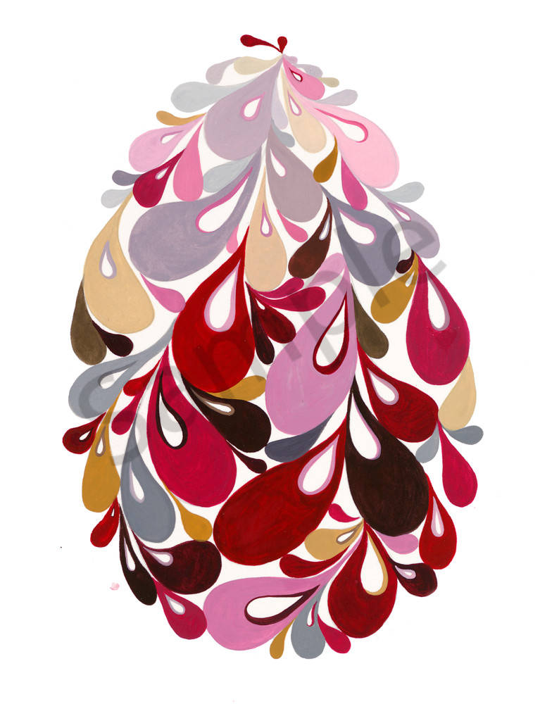 Swirl egg (pink)