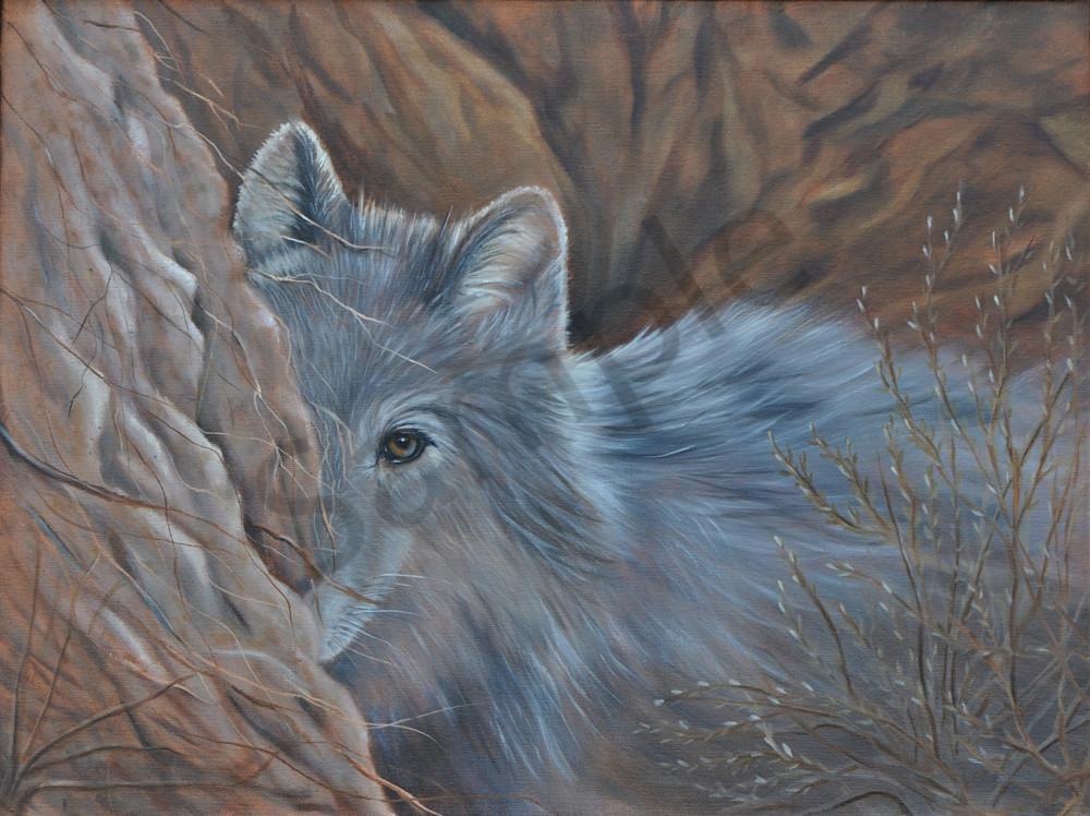 She Wolf Hiding Art | Art Relief
