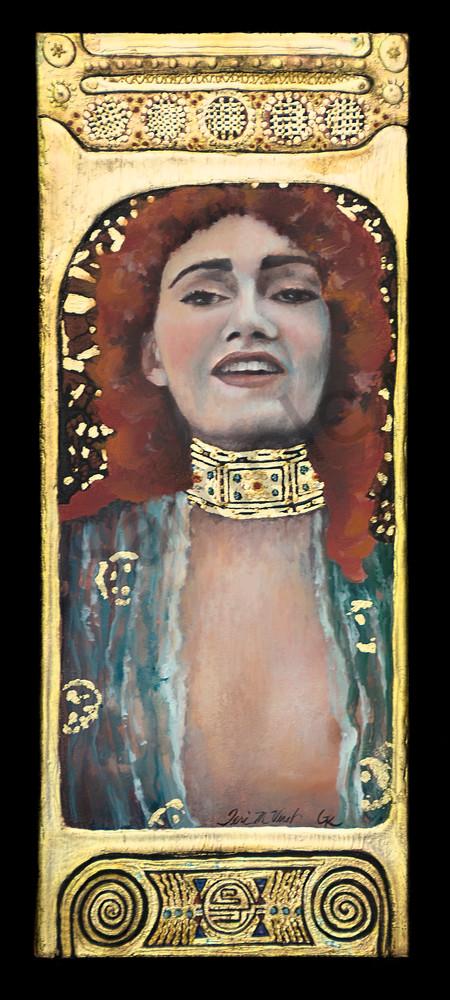 Designs by Teri | Teri Vereb Fine Art Paintings | Red | Klimt