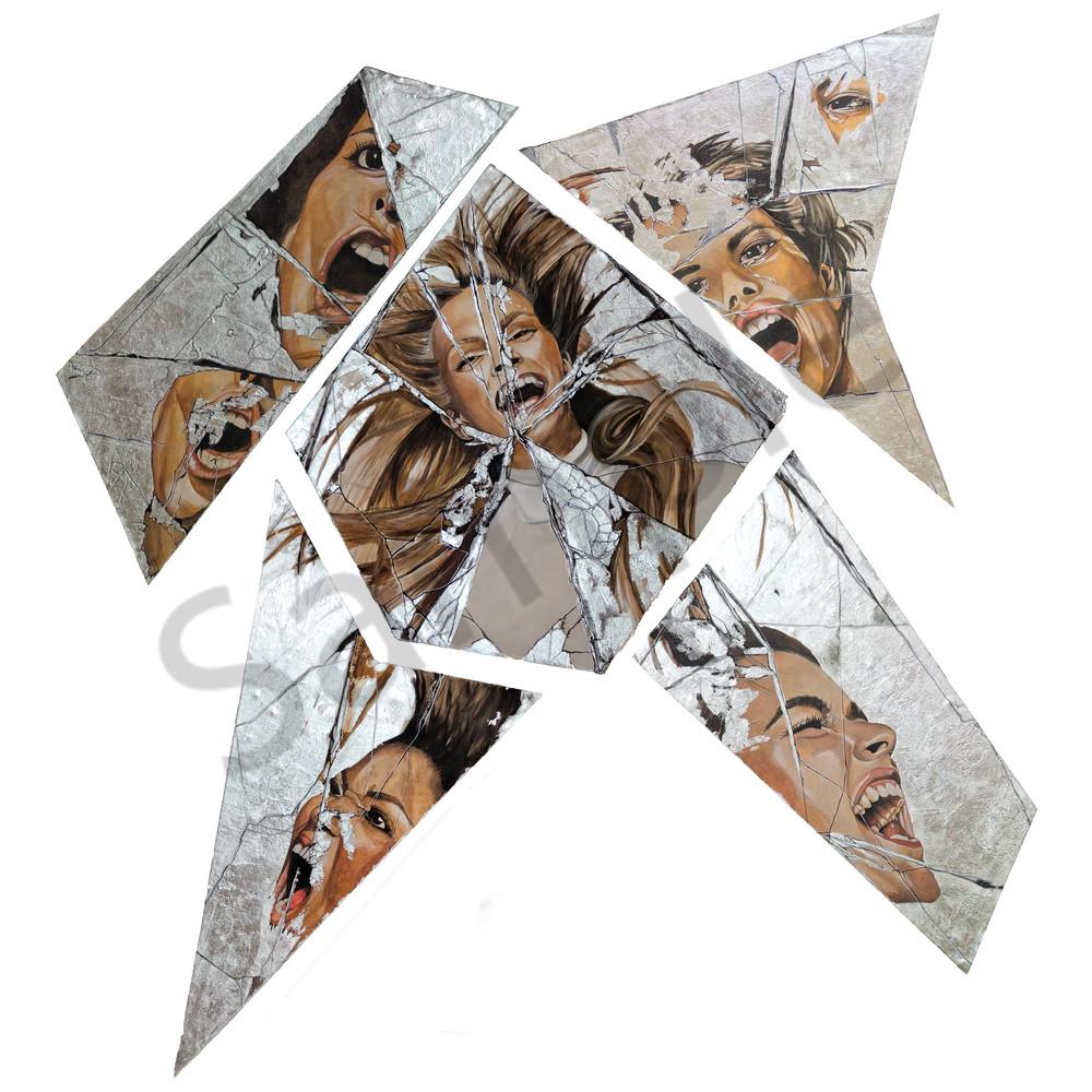 Designs by Teri | Teri Vereb Fine Art Paintings | Broken Mirror