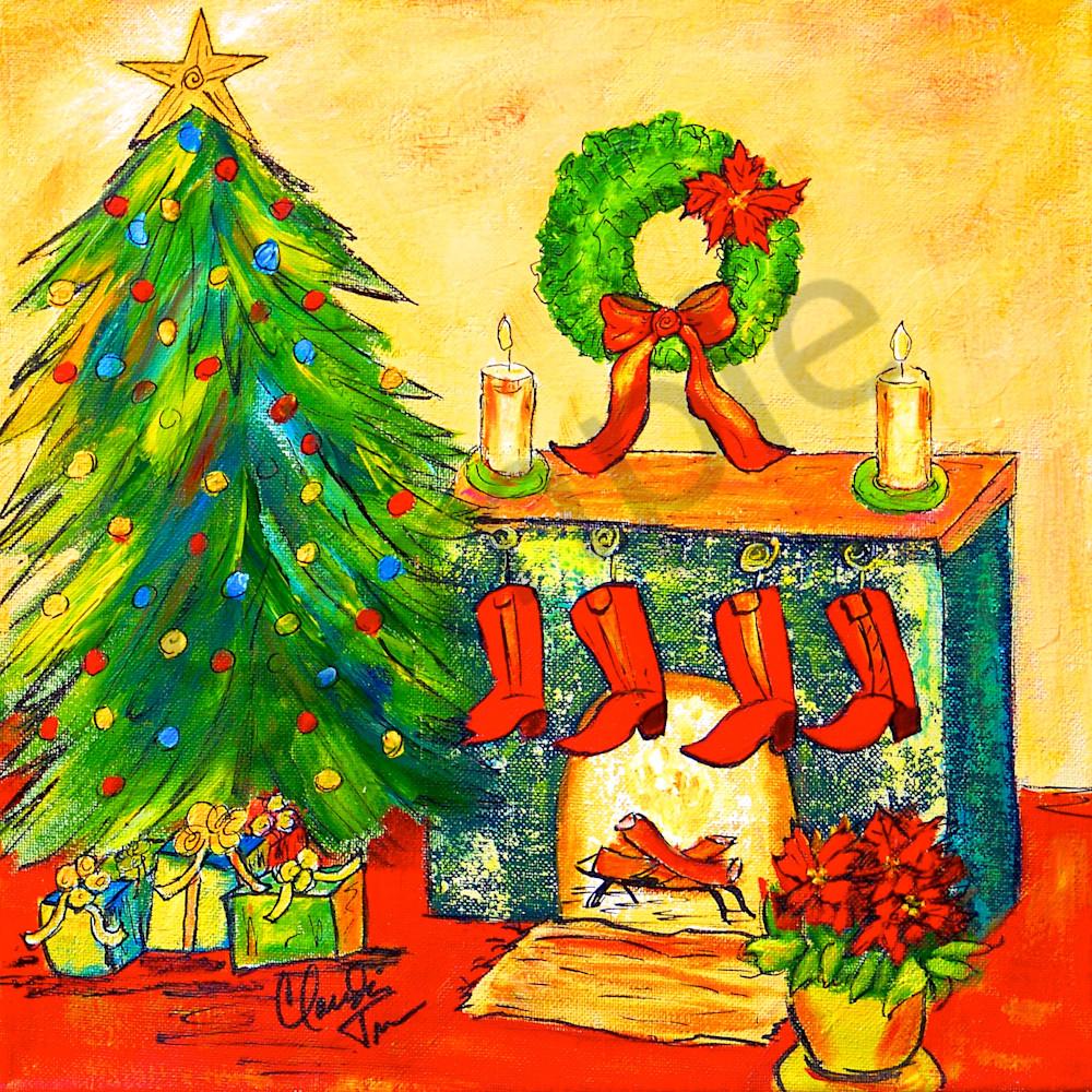 Texas Christmas - an acrylic painting by Claudia True