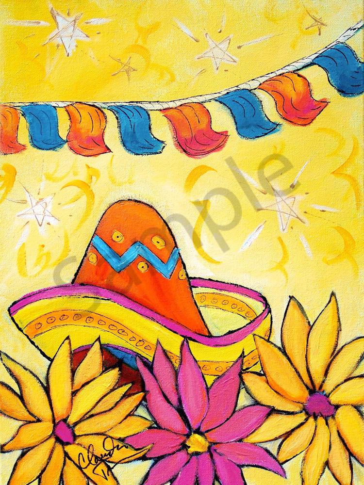 Fiesta II - print of acrylic painting by Claudia True